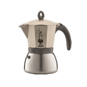 Bialetti Moka Induction Light gold, 6 šálků + KÁVA ZDARMA